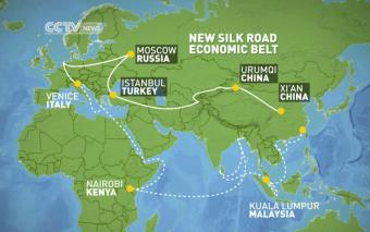 new silk road map
