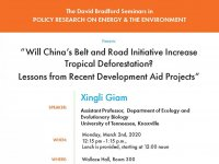 Will China's Belt and Road Initiative Increase Tropical Deforestation?